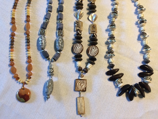 Some of Art Rains newer beaded jewelry- limited edition and one of a kind pieces. Art Rains Jewelry